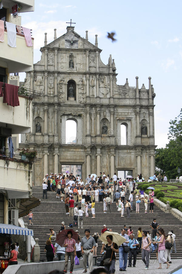 Catedral de St Paul s macao imagens de stock royalty free