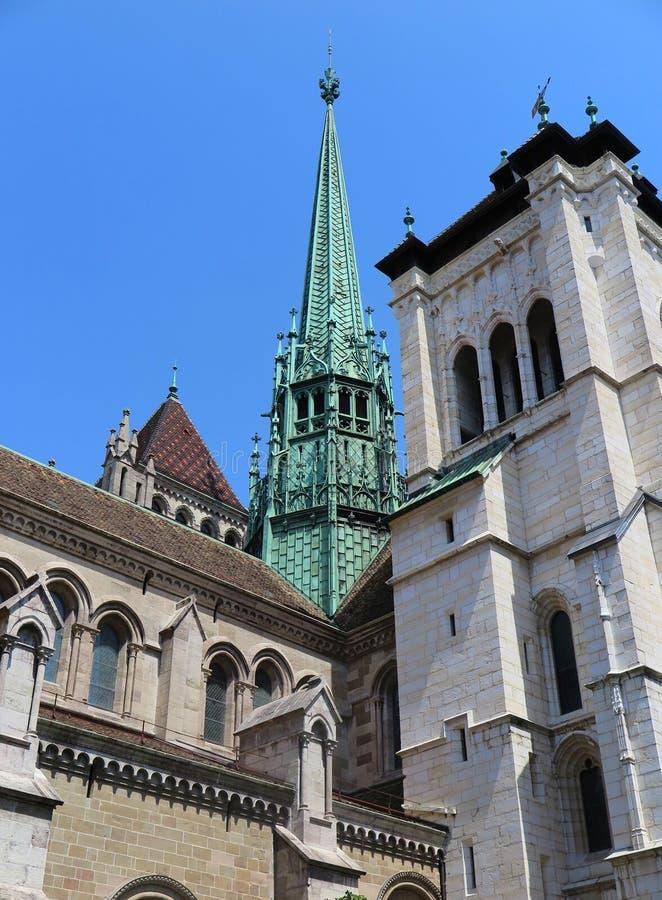 Catedral de St Pierre em Genebra fotografia de stock royalty free