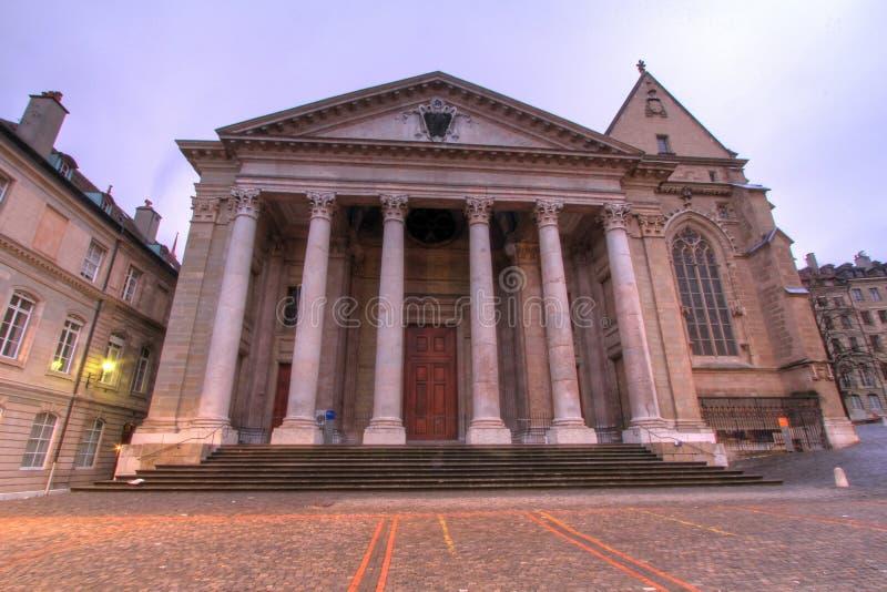 Catedral de St Pierre en Ginebra imagenes de archivo