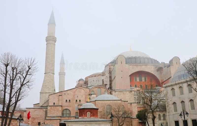 Catedral de St Sophia (Hagia Sophia) Istambul, Turquia fotografia de stock royalty free