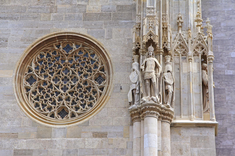 A catedral de St Stephen, Viena, Áustria imagem de stock