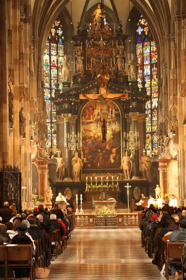 Catedral de Stephansom en Viena fotografía de archivo