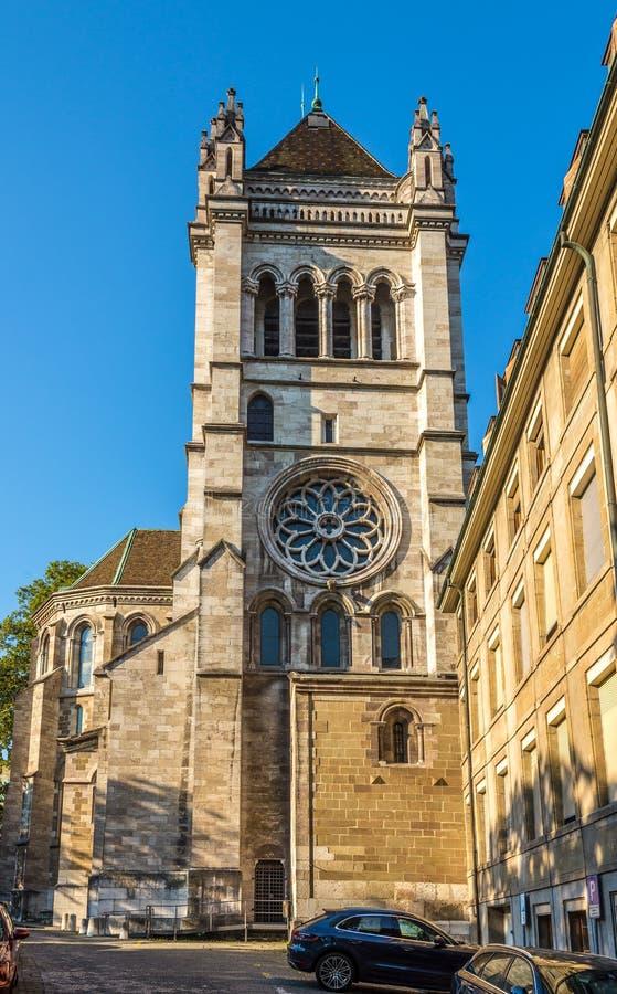 Catedral de StPierre en Ginebra imagen de archivo