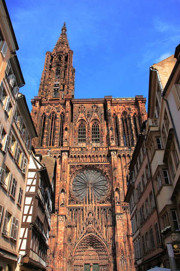 Catedral de Strasbourg fotos de stock royalty free