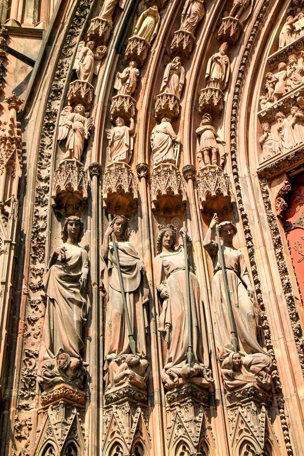 Catedral de Strasbourg imagem de stock