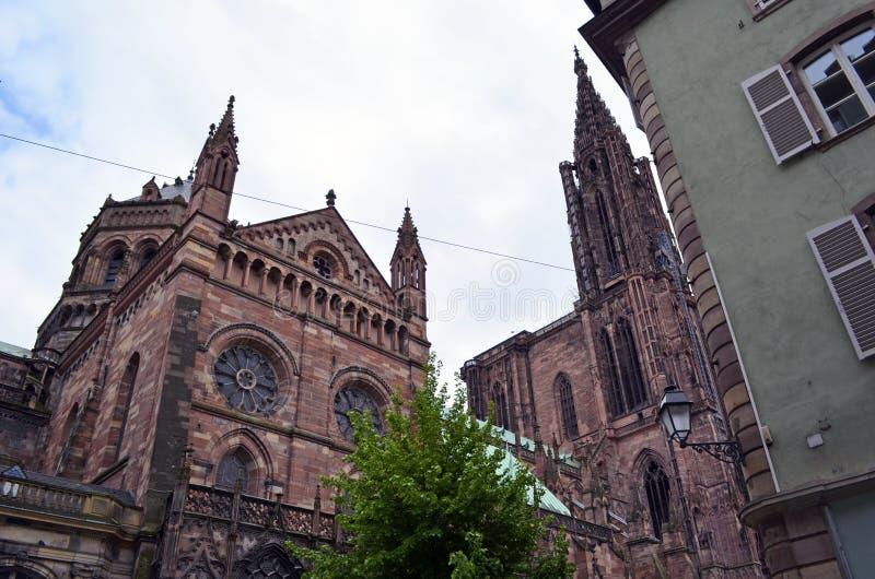 Catedral de Strasbourg em Strasbourg França foto de stock