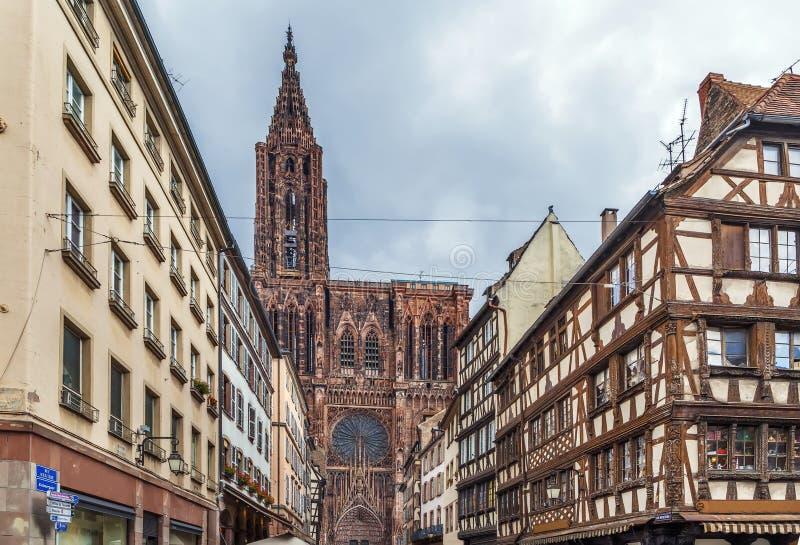 Catedral de Strasbourg, France imagem de stock royalty free