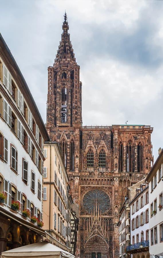 Catedral de Strasbourg, France imagem de stock