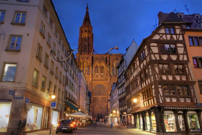 Catedral de Strasbourg, France foto de stock royalty free