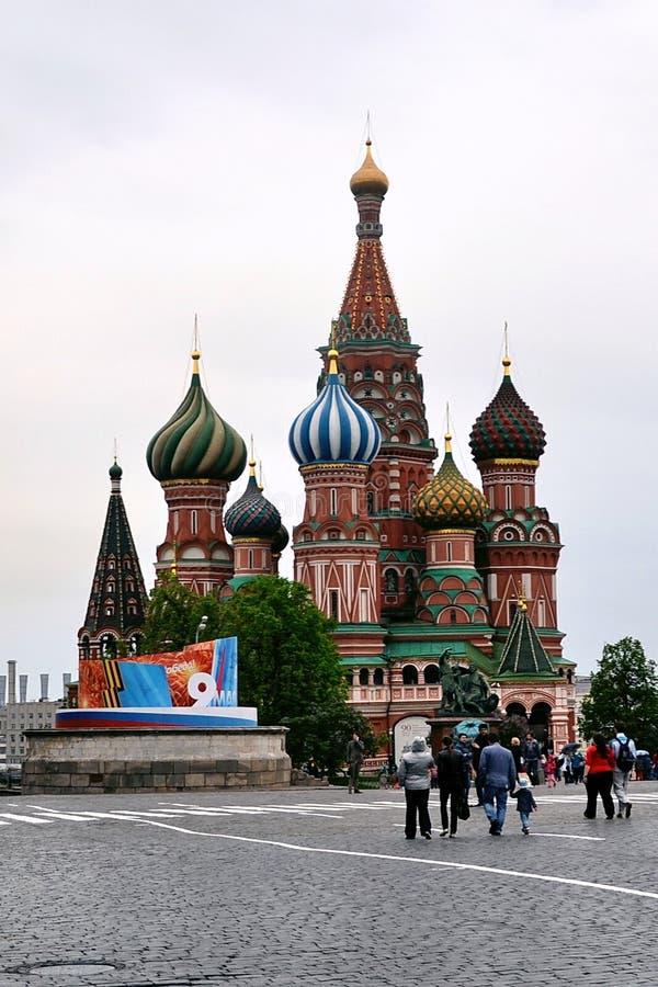 Catedral de StVasily, Moscou imagens de stock
