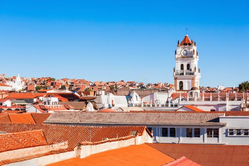 Catedral de Sucre fotografía de archivo libre de regalías