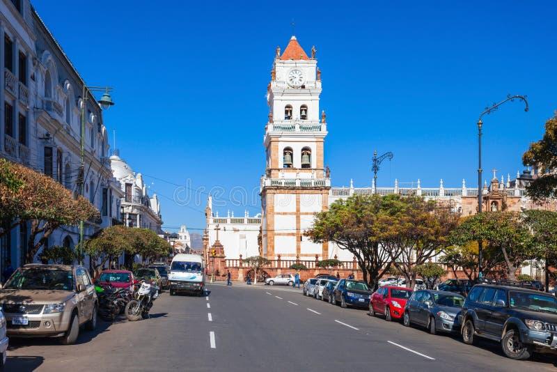 Catedral de Sucre imagen de archivo libre de regalías