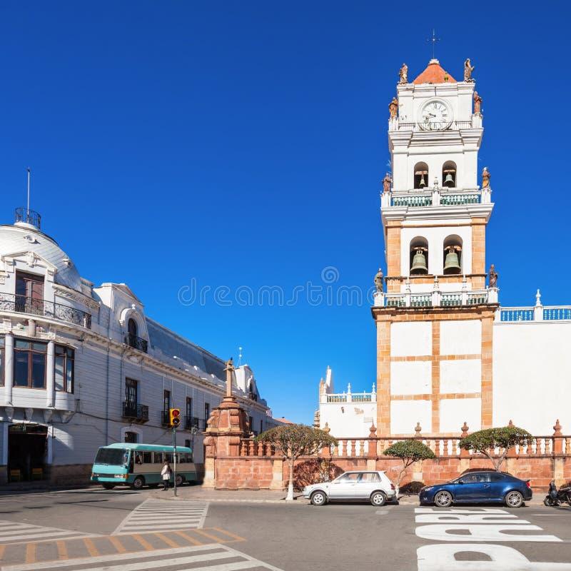 Catedral de Sucre imágenes de archivo libres de regalías