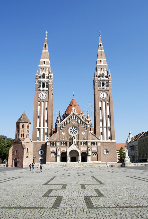 A catedral de Szeged, Hungria fotografia de stock royalty free
