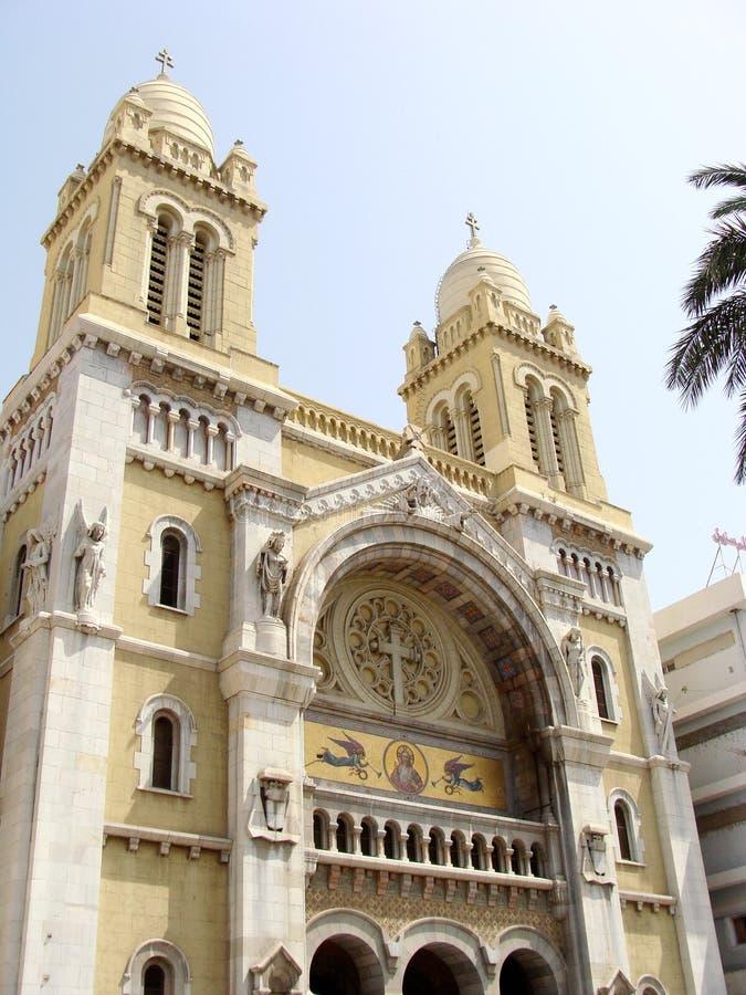 Catedral de Túnez imagen de archivo