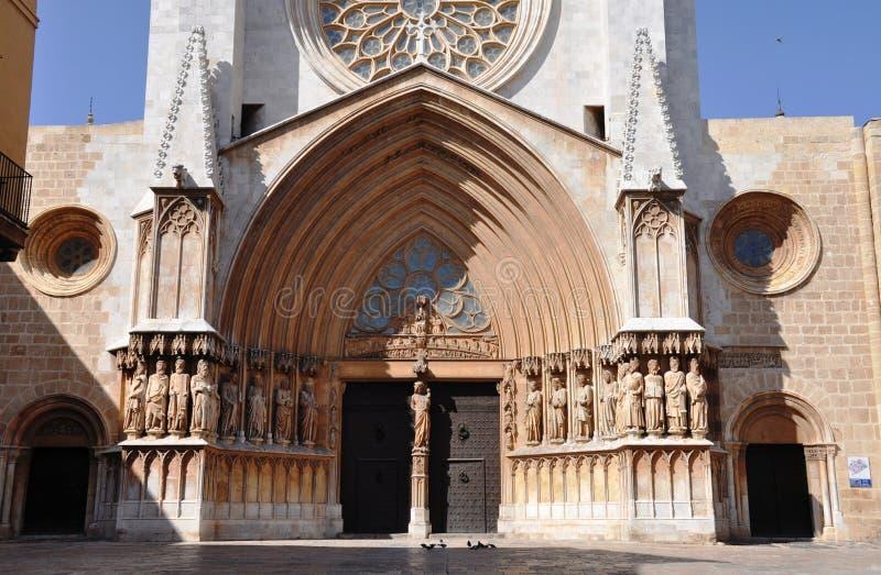 Catedral de Tarragona imagem de stock