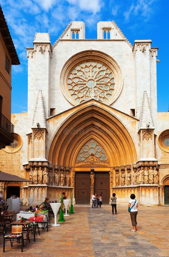 Catedral de Tarragona. España fotografía de archivo libre de regalías