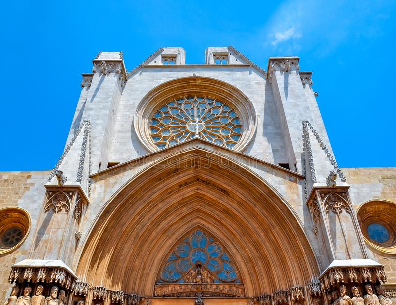 Catedral Catedral de Tarragona de Tarragona, Espanha foto de stock royalty free