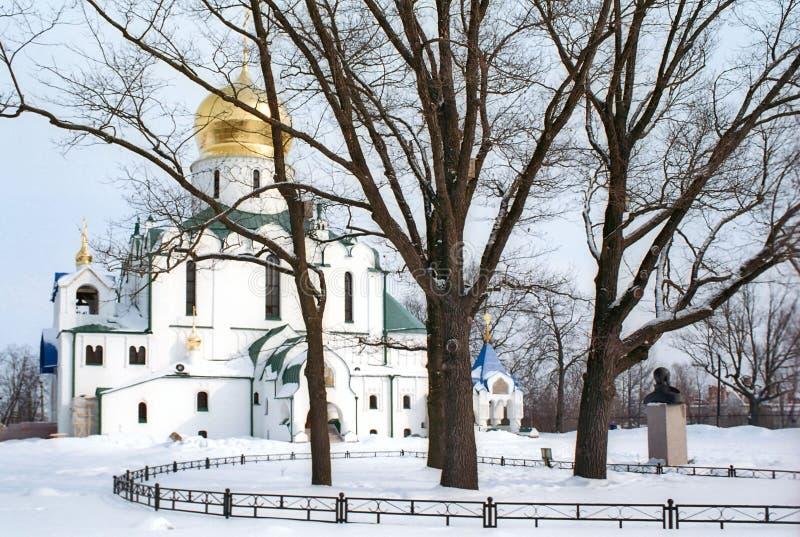 Catedral de Theodor en invierno imagen de archivo libre de regalías