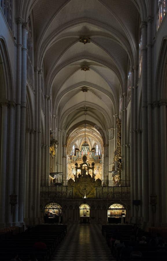 Catedral de Toledo - interior fotografía de archivo libre de regalías