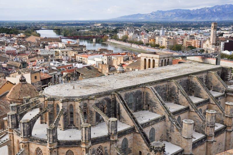Catedral de Tortosa, Tarragona (España) imagen de archivo