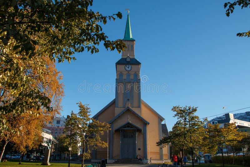 Catedral de Tromso, Noruega Catedral de Tromso foto de stock