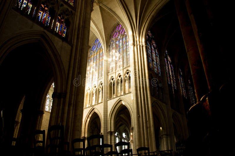 Catedral de Troyes imagenes de archivo