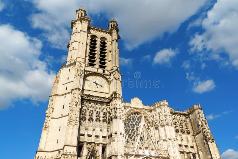 Catedral de Troyes, Francia foto de archivo libre de regalías