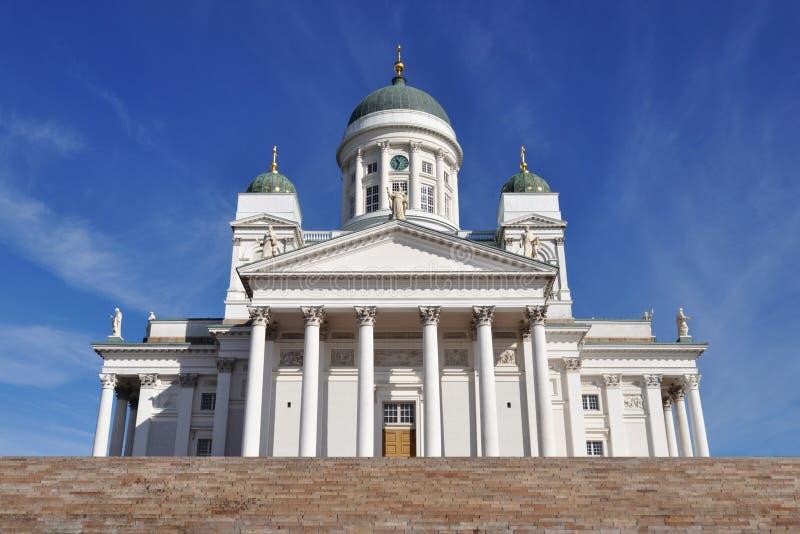 Catedral de Tuomiokirkko, Helsínquia, Finlandia foto de stock