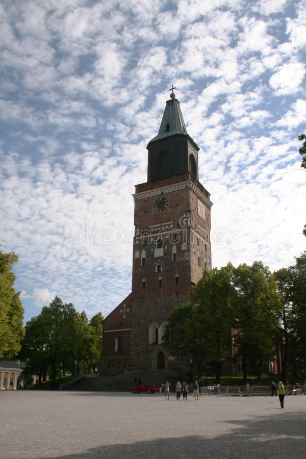 Catedral de Turku imagenes de archivo