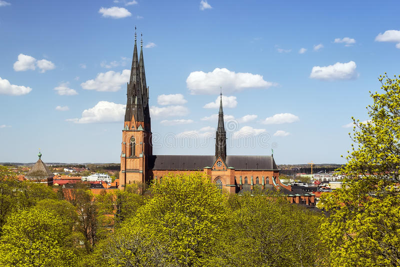Catedral de Uppsala imagen de archivo