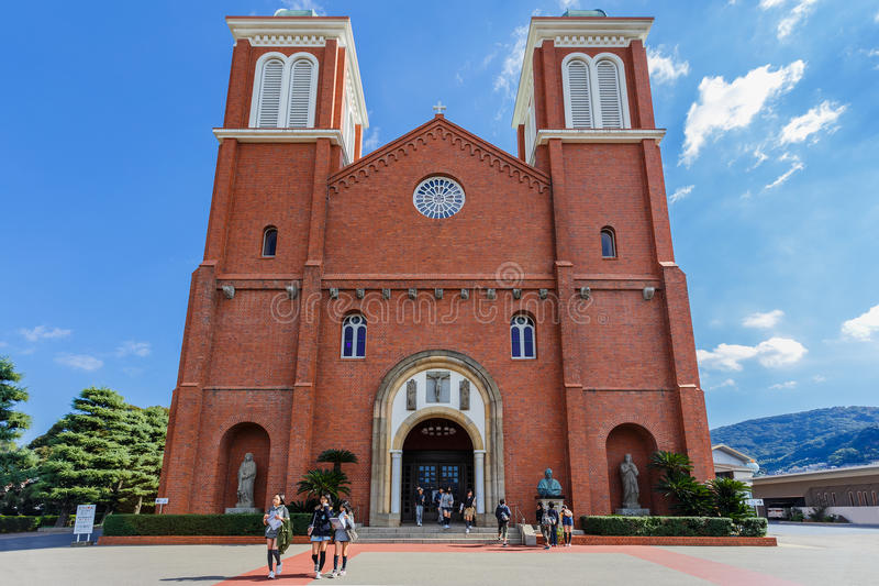 Catedral de Urakami en Nagasaki foto de archivo