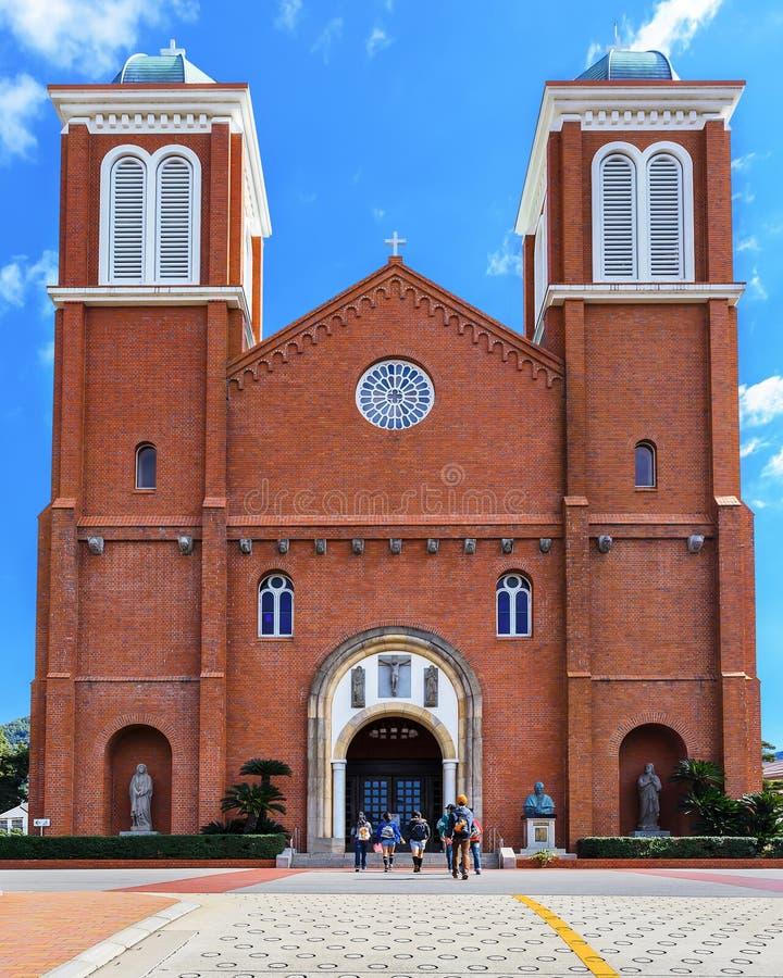 Catedral de Urakami en Nagasaki imagenes de archivo