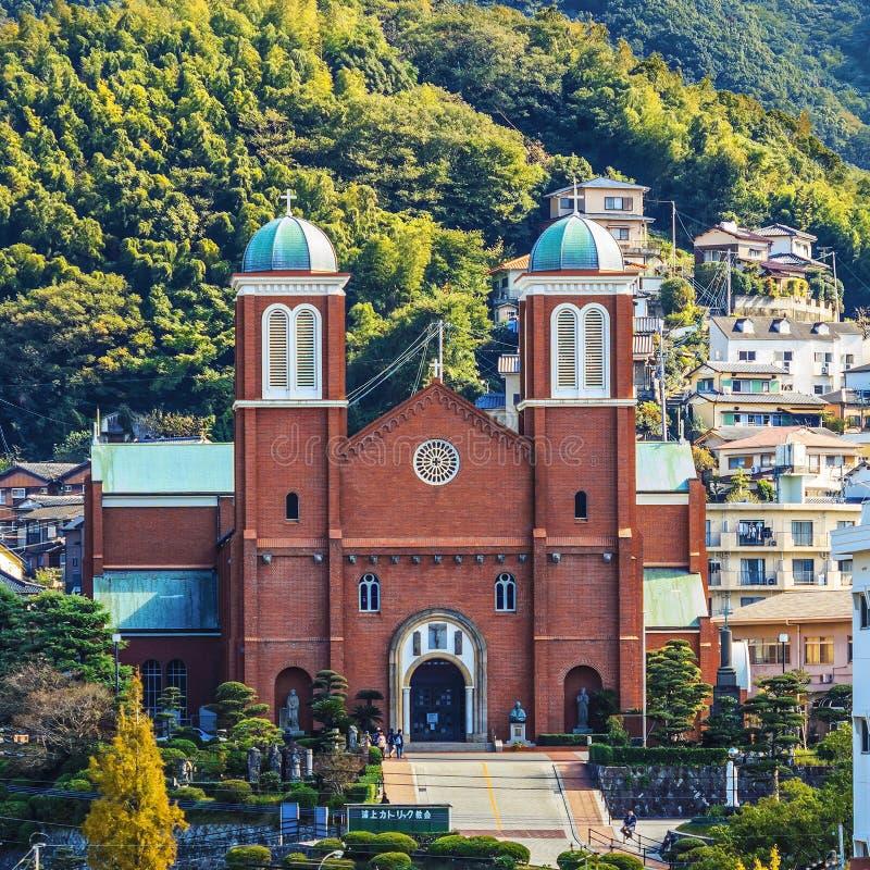 Catedral de Urakami en Nagasaki imágenes de archivo libres de regalías
