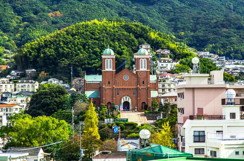 Catedral de Urakami Foto tomada el 12 de noviembre de 2017 fotos de archivo libres de regalías