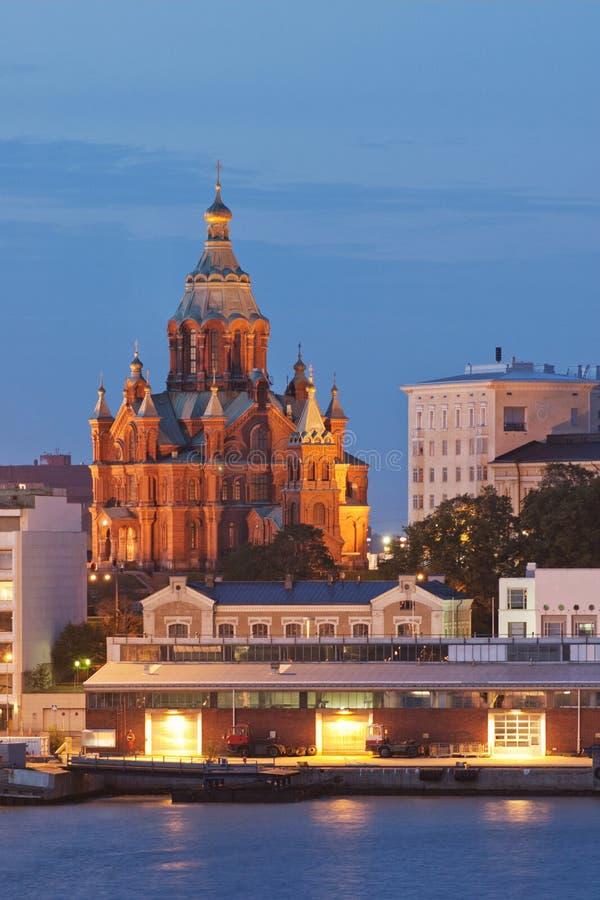 Catedral de Uspenski en Helsinki imagen de archivo
