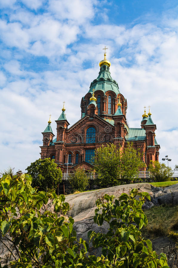 Catedral de Uspenski en Helsinki, Finlandia imagenes de archivo