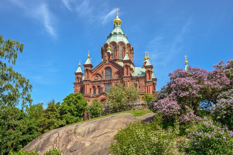 Catedral de Uspenski en Helsinki, Finlandia fotos de archivo
