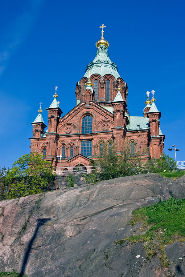 Catedral de Uspensky fotografia de stock royalty free