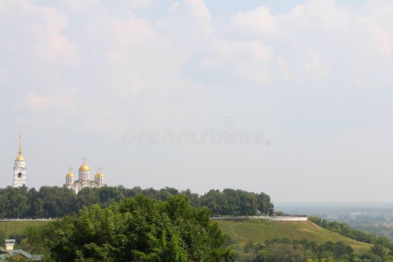 Catedral de Uspensky em Vladimir foto de stock