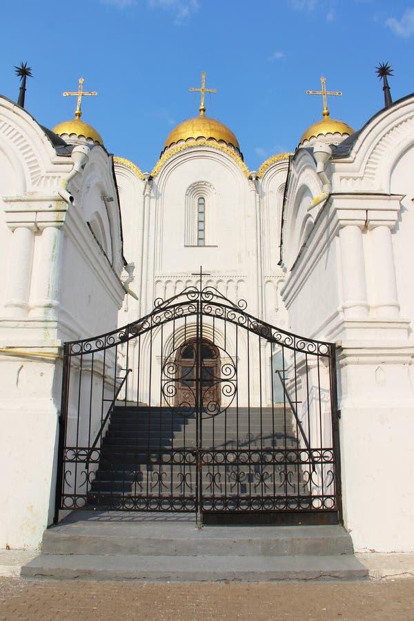 Catedral de Uspensky em Vladimir imagens de stock