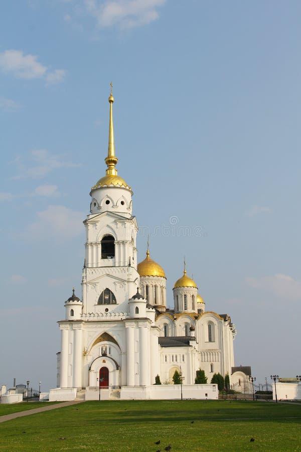 Catedral de Uspensky em Vladimir imagens de stock royalty free