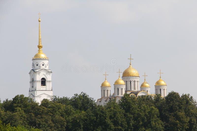 Catedral de Uspensky em Vladimir foto de stock royalty free