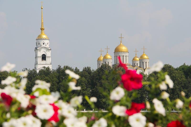 Catedral de Uspensky em Vladimir fotos de stock royalty free