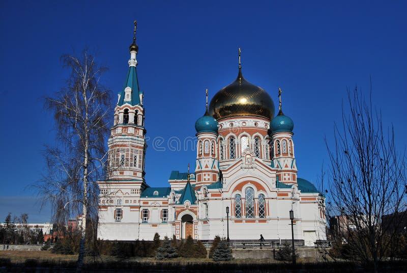 Catedral de Uspensky omsk imagens de stock royalty free