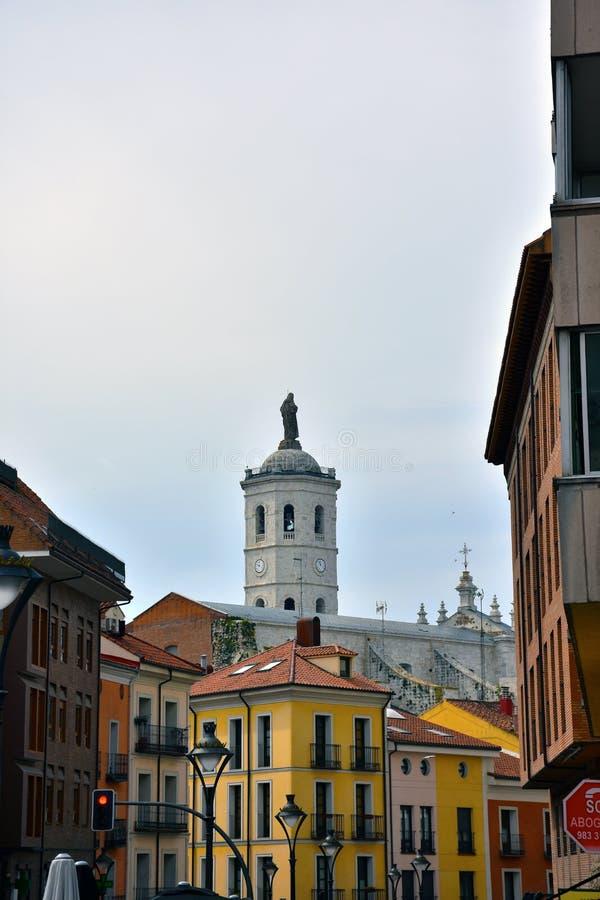 Catedral de valladolid imagem de stock
