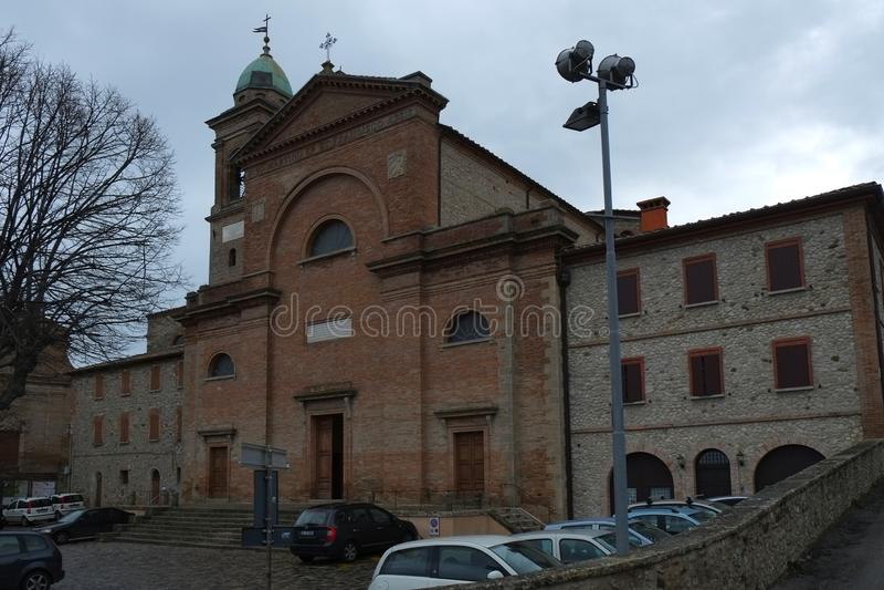 Catedral de Verucchio, Italia fotografía de archivo libre de regalías