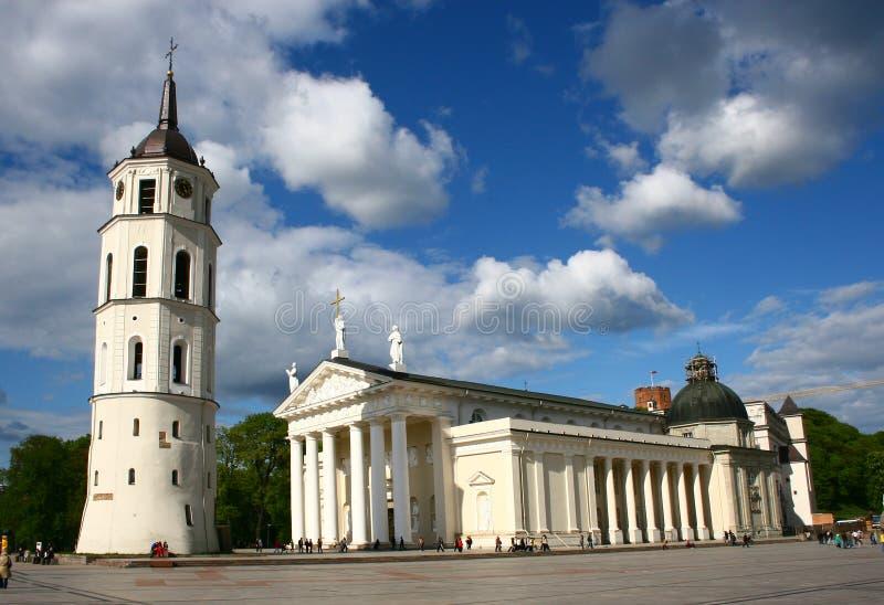 Catedral de Vilnius em Lithuania fotografia de stock royalty free