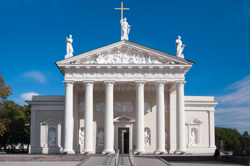 Catedral de Vilnius, Lithuania imagem de stock royalty free