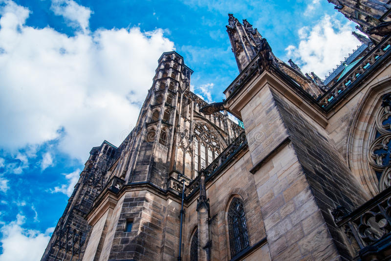 Catedral de Vitus del santo en Praga fotos de archivo libres de regalías